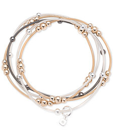 Nine West Tri-Tone 5-Pc. Set Beaded Stretch Bracelets