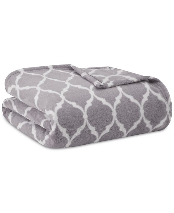 Madison Park Microlight Ogee-Print Twin Blanket