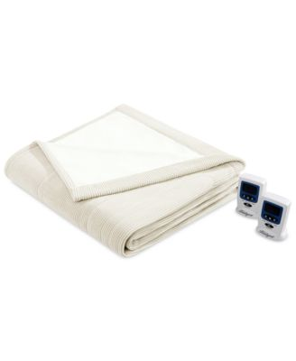 Knit Micro-Fleece Twin Heated Blanket