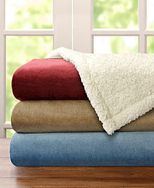 Madison Park Microlight Plush to Berber Blankets