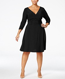 Plus & Petite Plus Size Ruched A-Line Dress