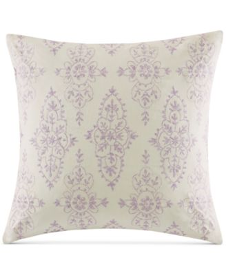 "CLOSEOUT! Florentina Embroidered Pink 18"" Square Decorative Pillow"