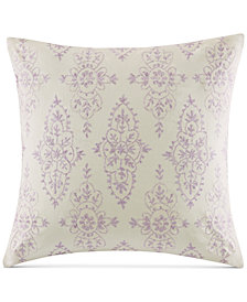 "CLOSEOUT! Echo Florentina Embroidered Pink 18"" Square Decorative Pillow"