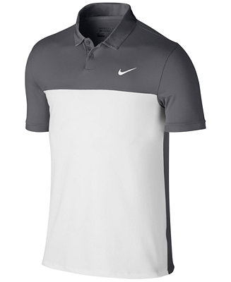 Nike men 39 s icon dri fit color blocked golf polo casual for Big tall nike golf shirts
