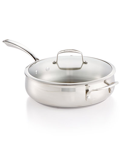Belgique Stainless Steel 5 Qt Saut 233 Pan With Lid Created