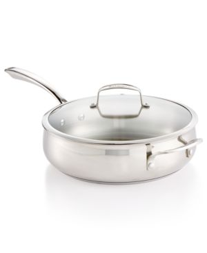 Belgique Stainless Steel 5-Qt. Saute Pan with Lid, Created for Macy's 2950533