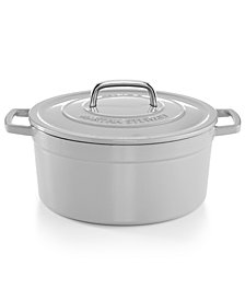 Martha Stewart Collection Collector's Enameled Cast Iron 6 Qt. Round Dutch Oven, Created for Macy's