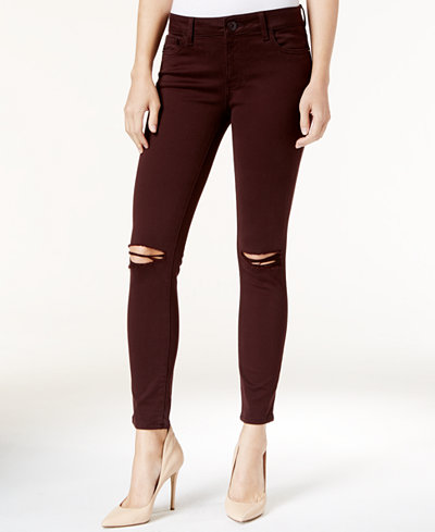 DL 1961 Margaux Ripped Malbec Wash Ripped Skinny Jeans