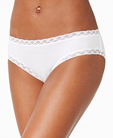 Bliss Lace-Trim Cotton Brief Underwear 156058