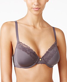 Hidden Glamour Full Figure Lace-Trim Bra 736044
