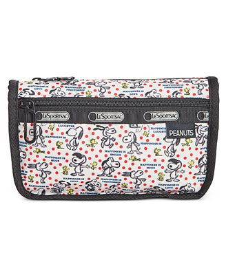 Lesportsac Peanuts Collection Travel Cosmetic Bag