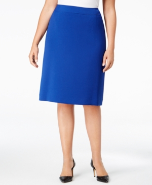 Retro Skirts: Vintage, Pencil, Circle, & Plus Sizes Tahari Asl Plus Size Pencil Skirt $36.99 AT vintagedancer.com