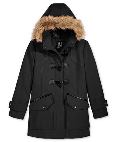 S. Rothschild Toggle Duffle Coat with Faux-Fur Trim, Big Girls (7-16)