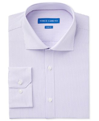 Vince Camuto Mens Slim Fit Spread Collar Dress Shirt