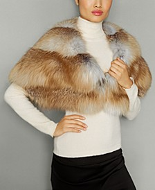 Fox Fur Chevron-Back Cape