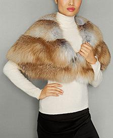The Fur Vault Fox Fur Chevron-Back Cape