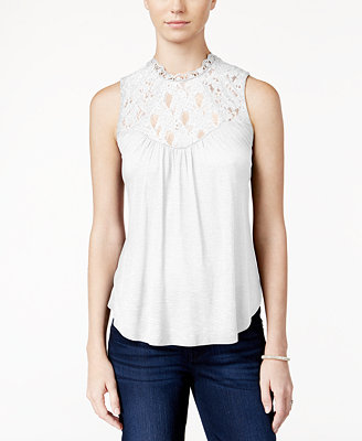 american rag sleeveless laceinset top created for macys