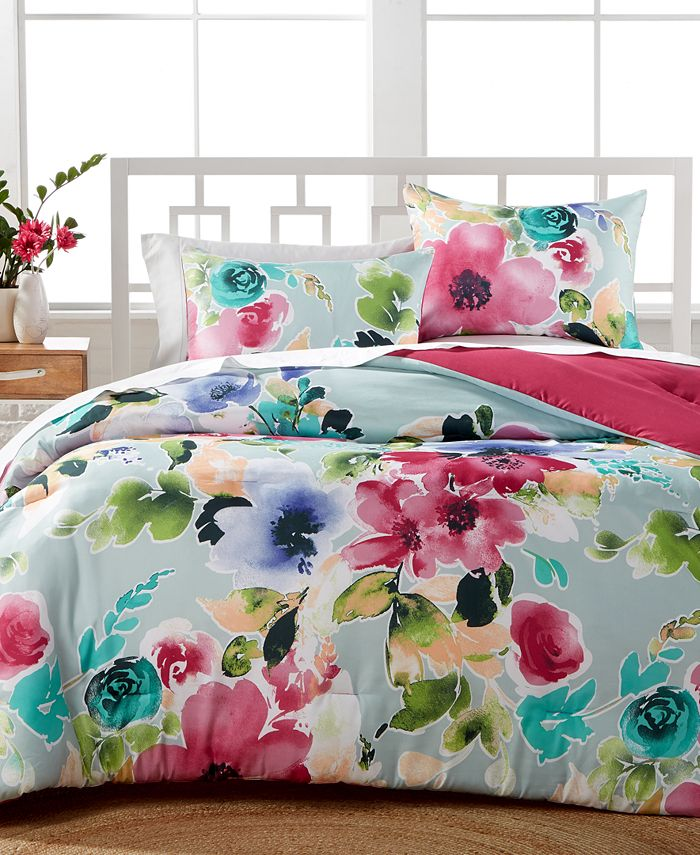 Hallmart Collectibles - Amanda 3-Pc. Reversible Full/Queen Comforter Set