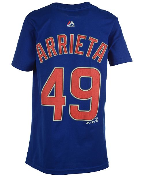 733c57692 Majestic Kids' Jake Arrieta Chicago Cubs Player T-Shirt, Big Boys (8 ...