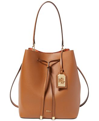 Lauren Ralph Lauren Debby Leather Drawstring Bag - Handbags ...