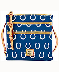 Dooney & Bourke Indianapolis Colts Dooney & Bourke Triple-Zip Crossbody Bag