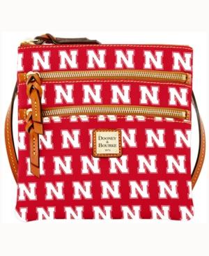 Nebraska Cornhuskers Triple-Zip Crossbody Bag