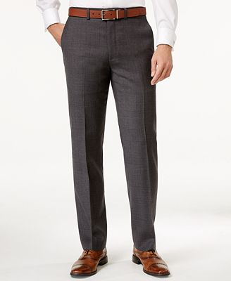 Ryan Seacrest Distinction Men's Modern Fit Gray Windowpane Pants, Only at Macy's