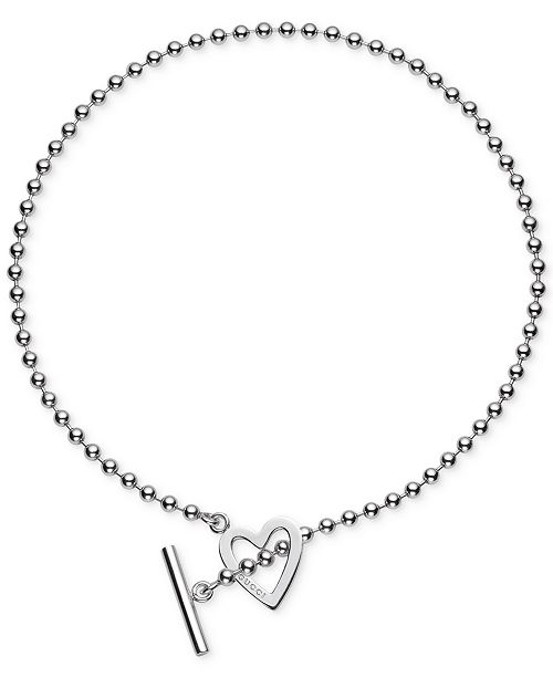 p heart view jewelry in toggle necklace sterling all silver v
