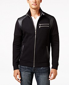 INC Men's Fire Knit Moto Jacket, Created for Macy's