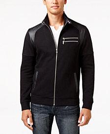INC Men's Fire Knit Moto Jacket, Created for Macy's