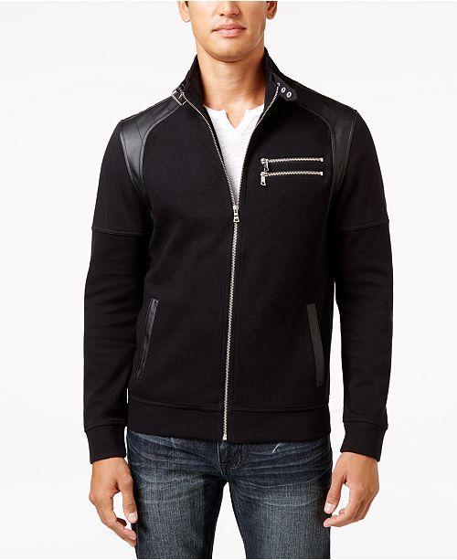 INC International Concepts INC Men's Fire Knit Moto Jacket, Created for Macy's