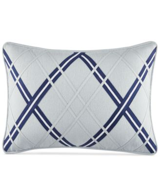 "CLOSEOUT! Josephine Argyle Applique 12"" x 18""  Decorative Pillow"