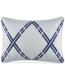 "CLOSEOUT! Tommy Hilfiger Josephine Argyle Applique 12"" x 18""  Decorative Pillow"