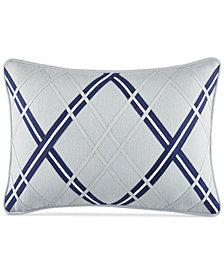 """CLOSEOUT! Tommy Hilfiger Josephine Argyle Applique 12"""" x 18""""  Decorative Pillow"""
