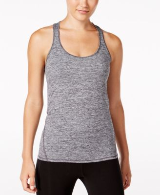 Image of Ideology Rapidry Heathered Racerback Performance Tank Top, Only at Macy's