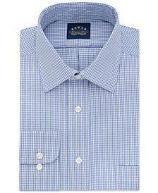 Men's Classic-Fit Stretch Collar Non-Iron Blue Check Dress Shirt