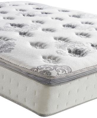 "Doran Twin XL 12"" Wrapped Coil Hybrid Cushion Firm Pillow Top Mattress, Quick Ship, Mattress in a Box"