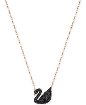 Image of Swarovski Crystal Pavé Swan Pendant Necklace