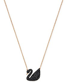 "Crystal Pavé Swan 14-7/8"" Pendant Necklace"