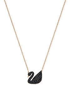 "Swarovski Crystal Pavé Swan 14-7/8"" Pendant Necklace"