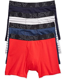 Jockey Men's 4-Pack Active Blend Boxer Brief