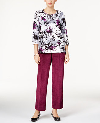 Alfred dunner petite printed top pants all petites for Alfred dunner wedding dresses