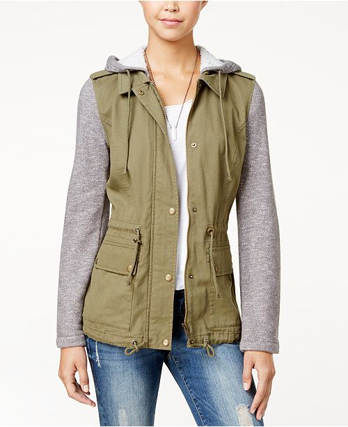 24b36311295a0 ... American Rag Knit-Trim Hooded Utility Jacket, Created for Macy's ...