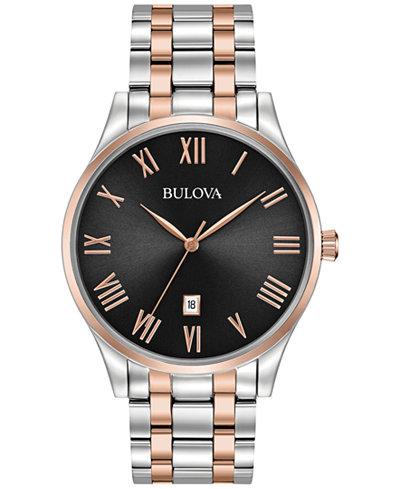 Bulova Men's Two-Tone Stainless Steel Bracelet Watch 40mm 98B279