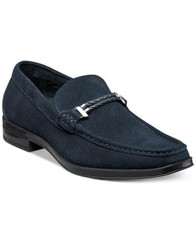 Stacy Adams Men S Nesbit Moc Toe Braided Strap Loafers
