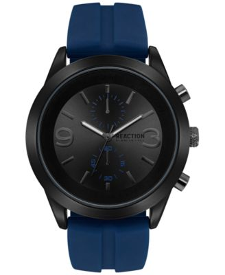 Image of Kenneth Cole Reaction Men's Navy Silicone Strap Watch 46.5mm 10030940