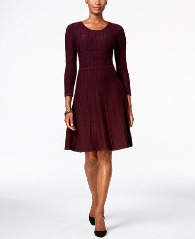 Jessica Howard Fit Amp Flare Sweater Dress Dresses Women