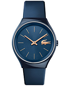 Lacoste Women's Valencia Blue Rubber Strap Watch 38mm 2000951