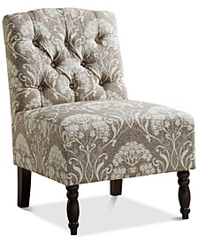 Charlotte Tufted Armless Chair, Quick Ship