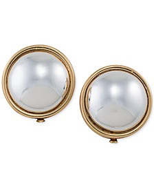 Gold-Tone Sphere Clip-on Earrings